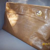 Beige Leather Clutch by Byathreadbags on Etsy