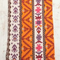 Orange and Pink Geometric Rug