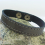 Grey Leather Bracelet by Justlena on Etsy