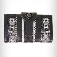 Sugar Skull Embroidered Wallet | PLASTICLAND