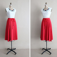 SALE - 1940s red dress / vintage christmas dress / dress and bolero