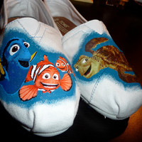 Custom Hand Painted Shoes - Finding Nemo