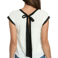 Contrast Open Back Top | Shop Just Arrived at Wet Seal
