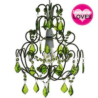 Flounce Flock Green Chandelier|Chandeliers|Lighting|French Bedroom Company