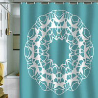 DENY Designs Home Accessories | Karen Harris Mod Medallion Aqua Shower Curtain