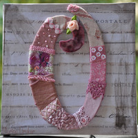 Handmade Crazy Quilting Letter O by miopupazzo on Etsy