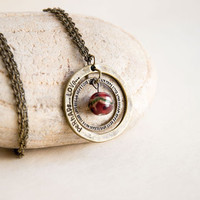 Vintage Style Pendant Necklace Perhaps Love by CrystalFrog on Etsy
