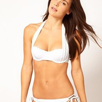 River Island Marilyn White Bikini at asos.com