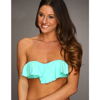 O'Neill Solid Ruffle Top Seafoam - Zappos.com Free Shipping BOTH Ways
