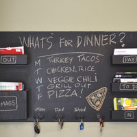 $230.00 chalkboard mail organizer large wall mounted by inorder2organize