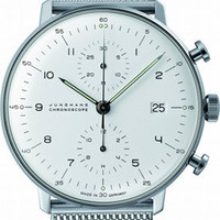 Junghans Watches USA: 027/4003.44 Max Bill Chronoscope by Junghans