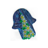 Large Hamsa Magnet Daisies and waves by nesjewelry on Etsy