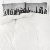 Urban Outfitters - NYC Skyline Pillowcase - Set Of 2