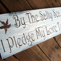"Beach Wedding Destination wedding ""By the Salty Sea I Pledge My Love to Thee""  Bohemian Seaside"