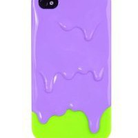 Amazon.com: 3D Purple with Green Melt ice-Cream Skin Hard Case Cover for iPhone 4S 4 Protect Case: Arts, Crafts & Sewing