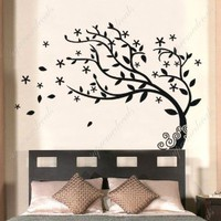 Amazon.com: Made in US - Free Custom Color - Bedroom decor must have- Elegant tree - Stickers Removable Vinyl Wall Art Decals: Home & Kitchen