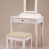 Wooden Vanity Set in White Finish ADS5055-wh