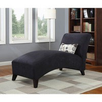 Chaise in Microfiber - Black