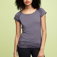 GapFit ruched-sleeve top