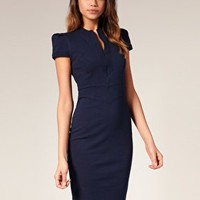 ASOS | ASOS Sexy Pencil Dress with Zip Detail at ASOS