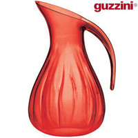 Guzzini Aqua Blown Jug ? funky red water jug