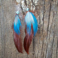 Dangle Feather Earrings by trevor4995 on Etsy