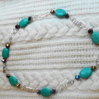 Turquoise Necklace with a Twist by trevor4995 on Etsy