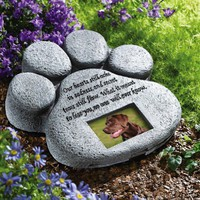 Pet Paw Print Garden Memorial Stone By Collections Etc