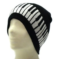 Music Piano Keyboard Beanie Ski Hat Cap