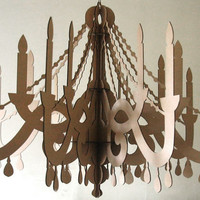 Large Cardboard Paper Chandelier Laser Cut Decor by seequin