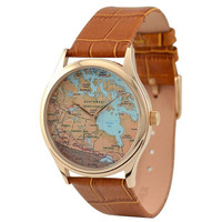 Vintage Map Watch (Canada)