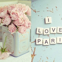 I Love Paris Set of two 5x7 Unframed Original Fine by yvetteinufio