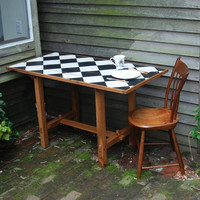 Kitchen Table Maurice de Sully Puzzle Table reclaimed by PegandAwl