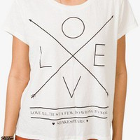 Love All Shakespeare Tee | FOREVER 21 - 2035894854