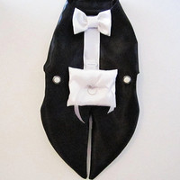 Dog Tuxedo Harness Vest: Ring Bearer Formal Wedding Wear For Dogs