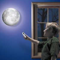 Amazon.com: LOCOMOLIFE Moon In My Room Waning Waxing Crescent Auto Kid Children Romantic Wall Lamp Night Light: Home &amp; Kitchen