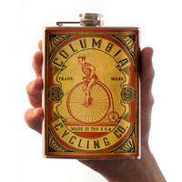Columbia Cycling Co. - Stainless Steel Flask - 8oz.