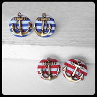Anchor Earrings by KaelaMills on Etsy