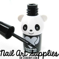 nailartsupplies | Panda Bear Long Lasting Super Waterproof Liquid Eye Liner in Black 6ml | Online Store Powered by Storenvy