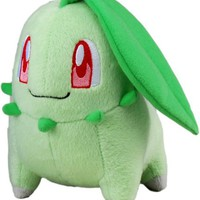 "Takara Tomy Pokemon Plush Toy - 6"" Chikorita (Japanese Import)"