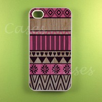 Aztec Iphone 4 Case - Pink Aztec On.. on Luulla