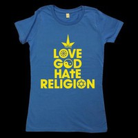 THTC | ECO T-SHIRT LOVE GOD HATE RELIGION