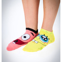 SpongeBob Faces Mix and Match No Show Socks 10 Pk