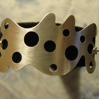 Swiss Cheese Bracelet Sterling Silver Metal Work by AListDesigns
