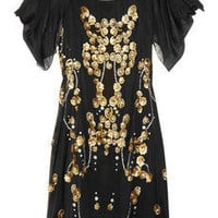 Temperley London|Dalia embellished silk-georgette dress |NET-A-PORTER.COM