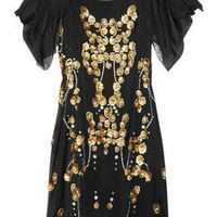 Temperley London | Dalia embellished silk-georgette dress  | NET-A-PORTER.COM