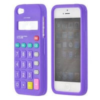 PURPLE CALCULATOR Apple iPhone 5 CASE SILICONE SKIN PHONE ACCESSORY