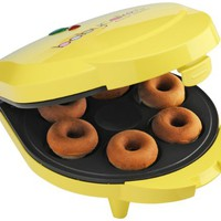 Babycakes DN-6 Mini Doughnut Maker, Yellow, 6 Donut