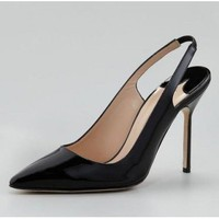 Manolo Blahnik Marca Pointed-Toe Slingback Pump