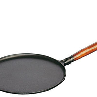 "One Kings Lane - Après-Ski - 11"" Crepe Pan with 2 Tools, Matte Black"